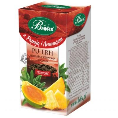 Ceai Pu-erh cu ananas si papaya 100 gr