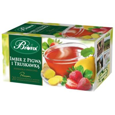 Ceai Premium Capsuna,Gutuie si Ghimbir 20 plicuri