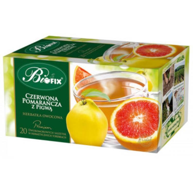 Ceai Premium Gutuie si Portocala Rosie 20 plicuri