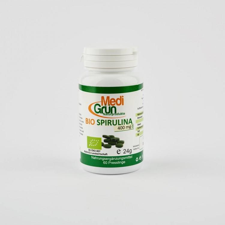 Bio Spirulina 400 mg 60 Pastile MediGrun