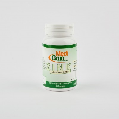 Zink+ Vit. B5+Biotin 30 Capsule MediGrun